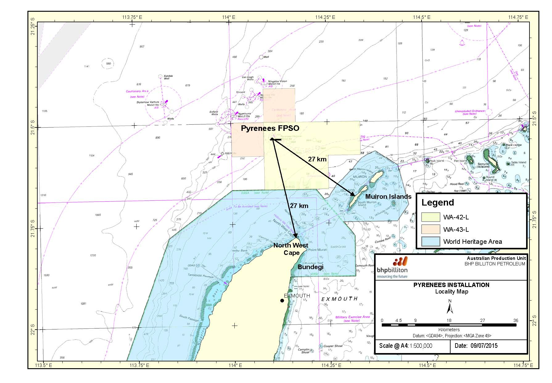 Location map - Activity: Pyrenees Expansion Installation - subsea completions, installation and tie-in (refer to description)