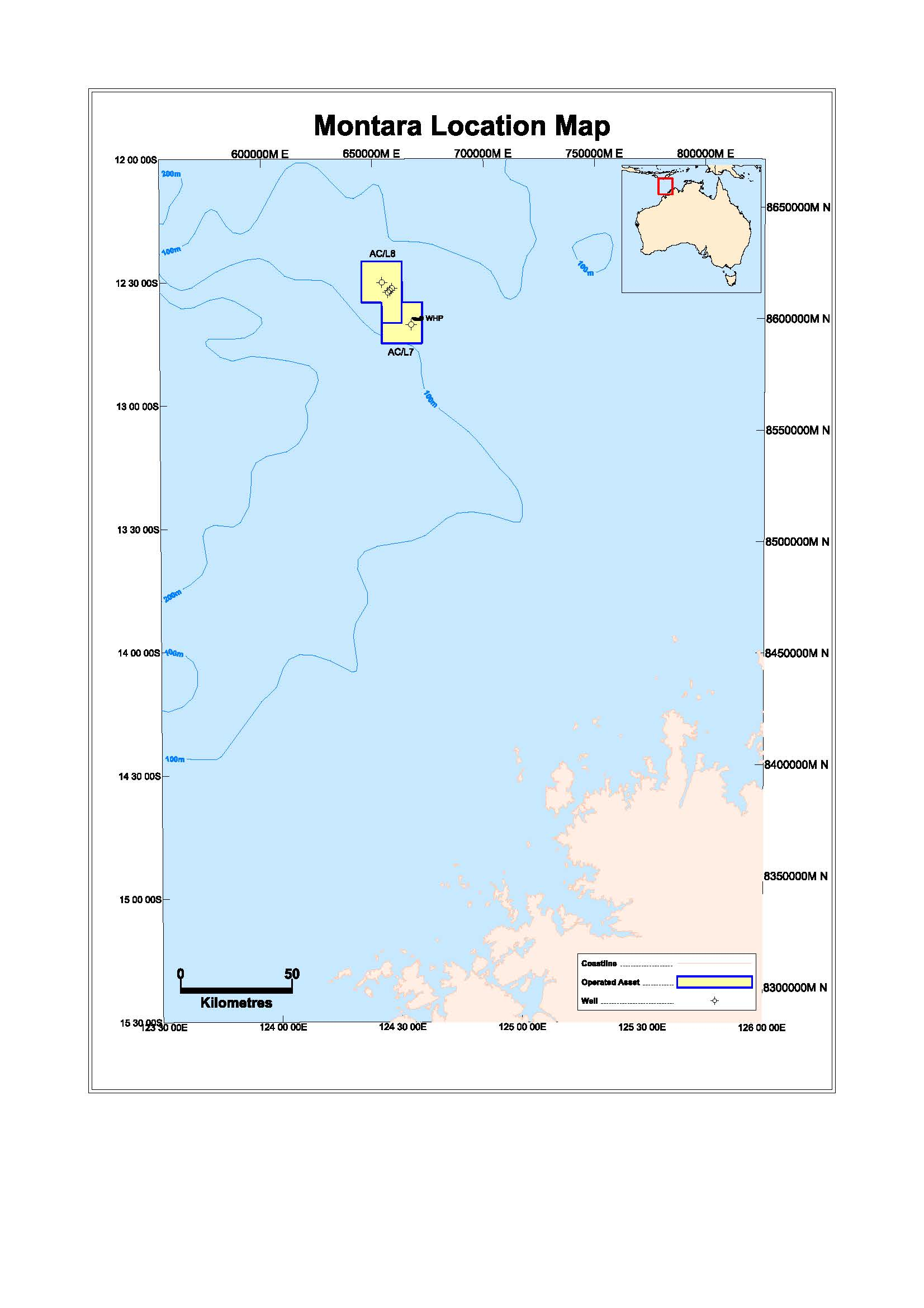 Location map - Activity: Montara Production Drilling (refer to description)