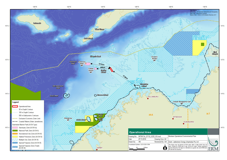 Location map - Activity: Montara Operations (refer to description)