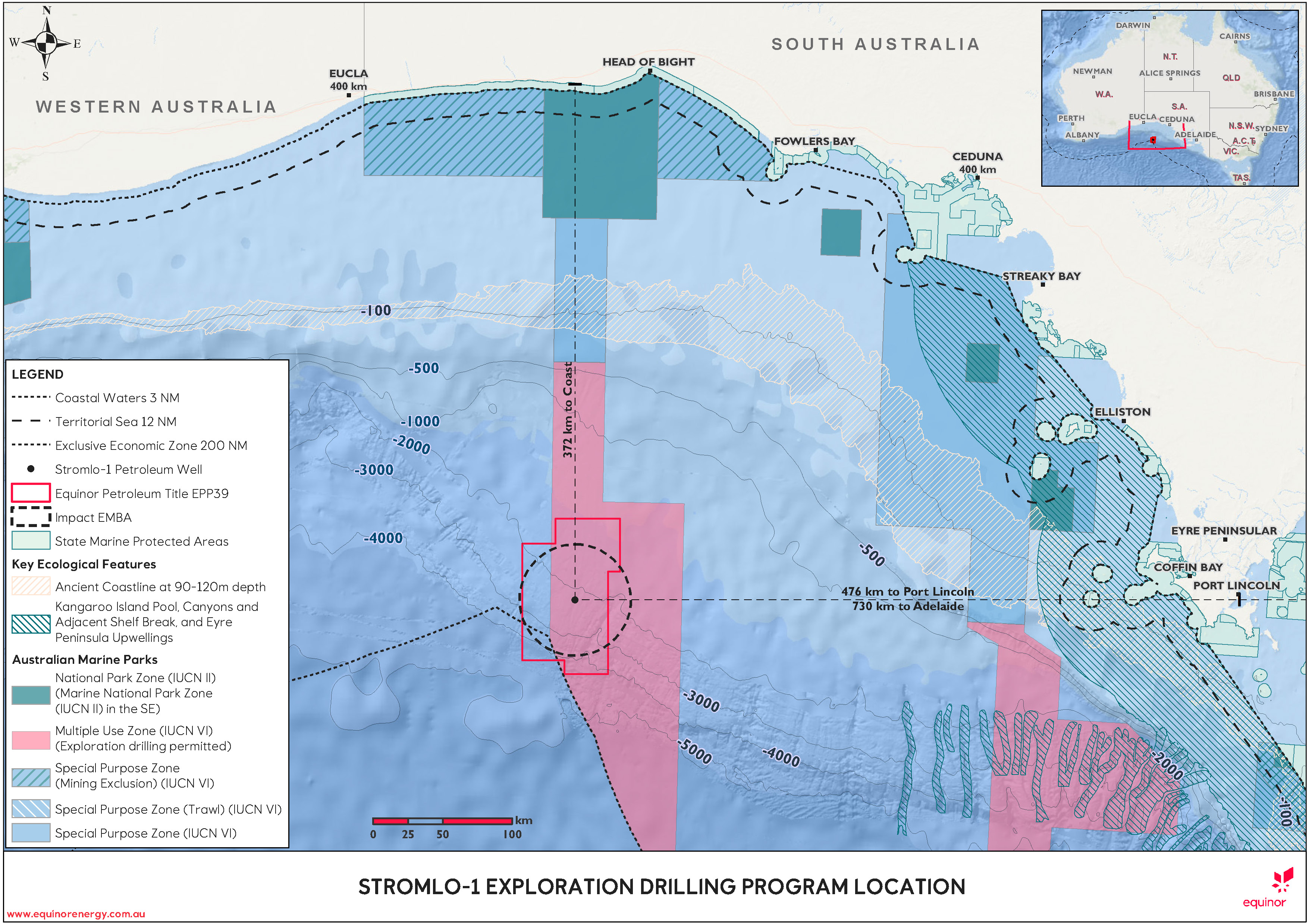 Location map - Activity: Stromlo-1 Exploration Drilling Program (refer to description)