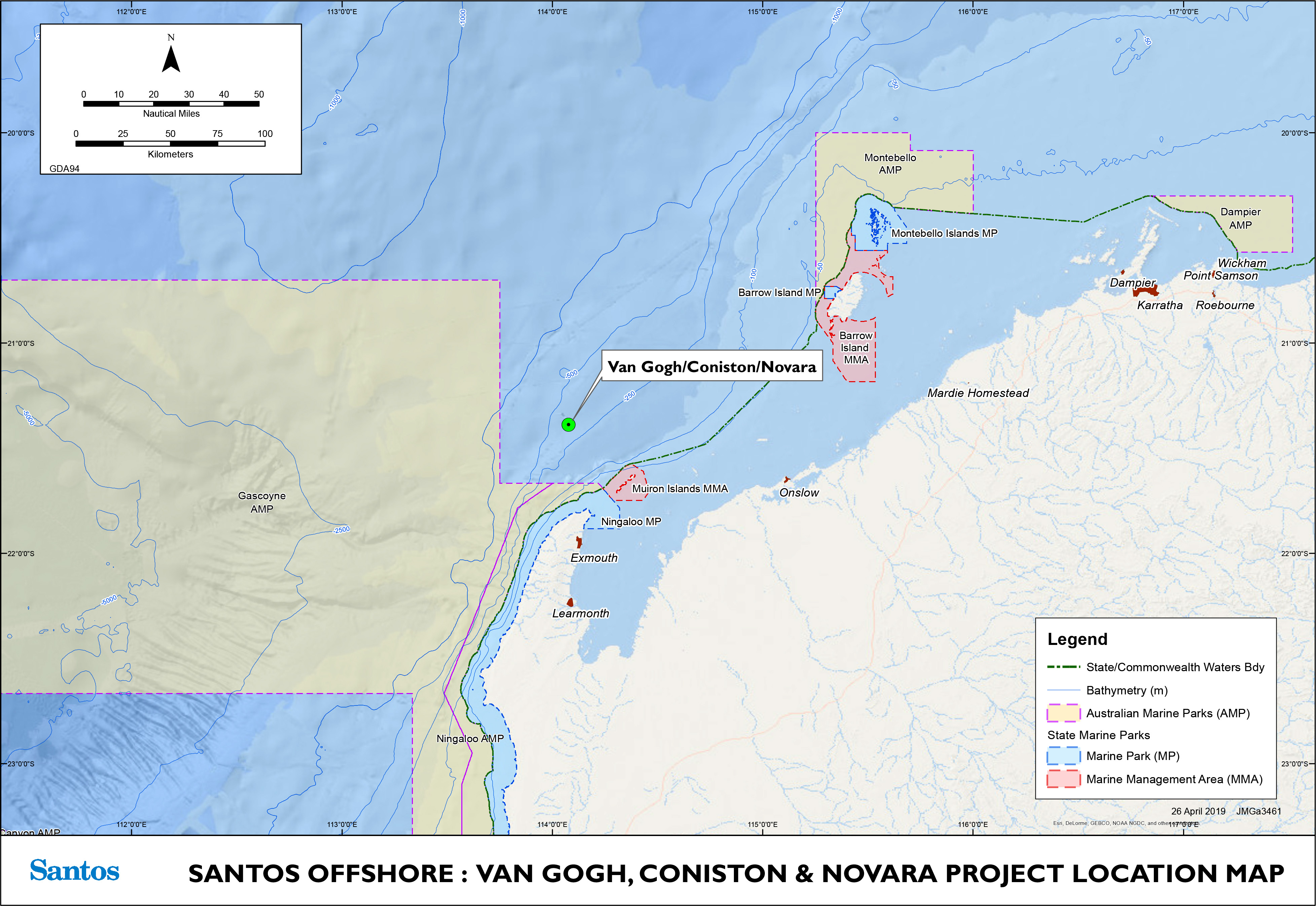 Project map - Van Gogh Coniston Novara Field Developments (refer to Description)