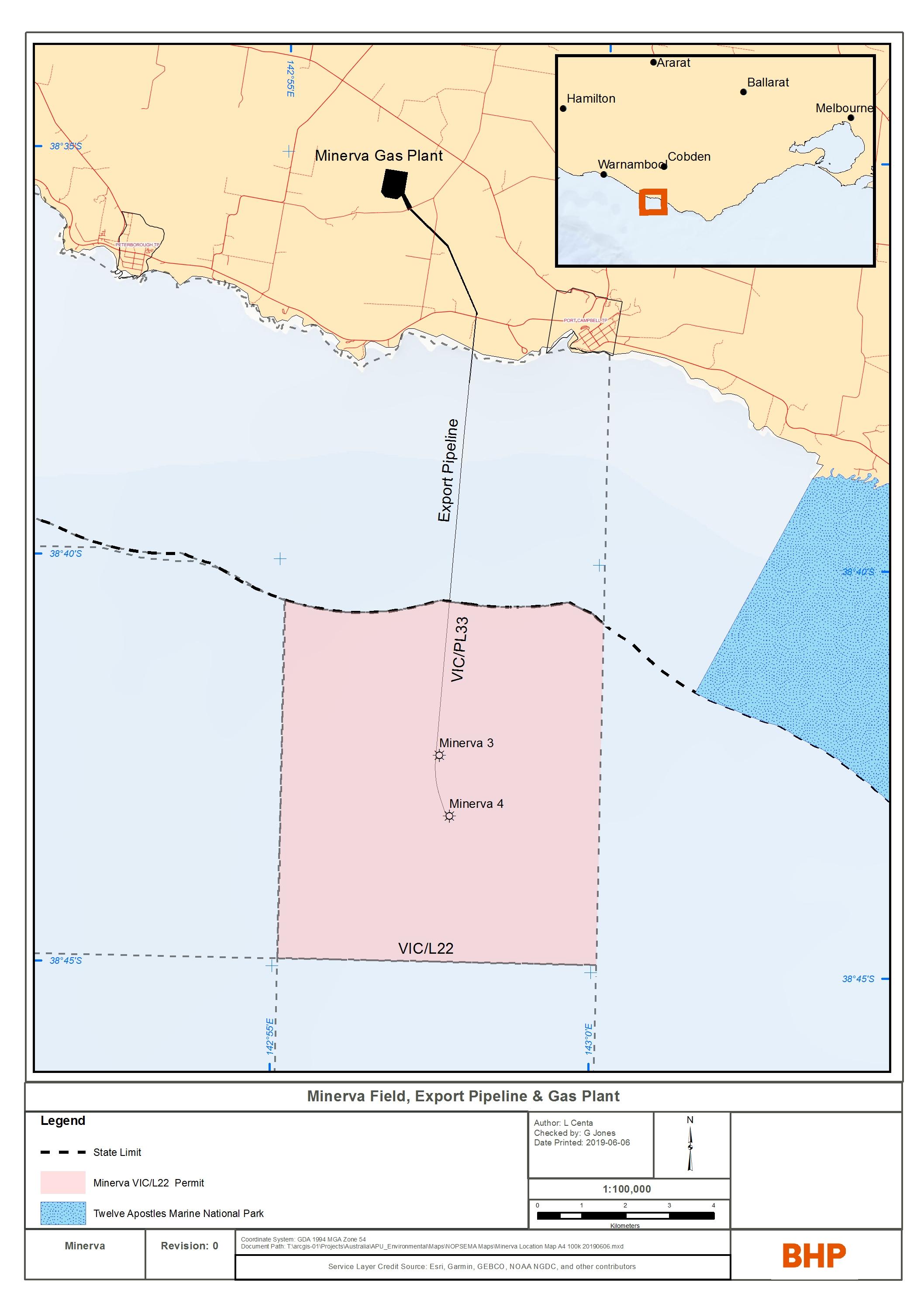 Project map - Minerva Development (refer to Description)