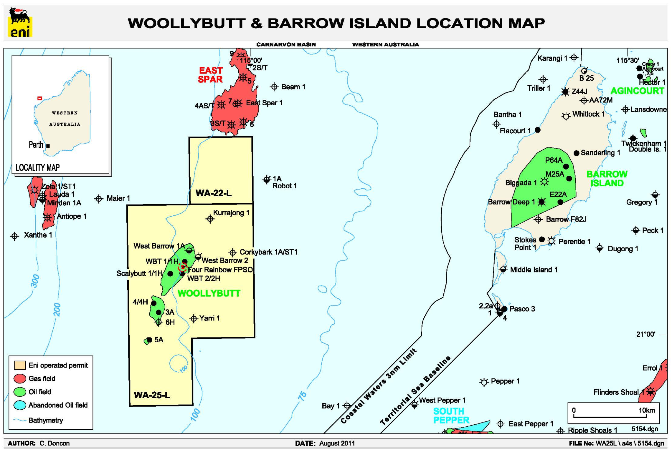 Project map - Woollybutt  (refer to Description)