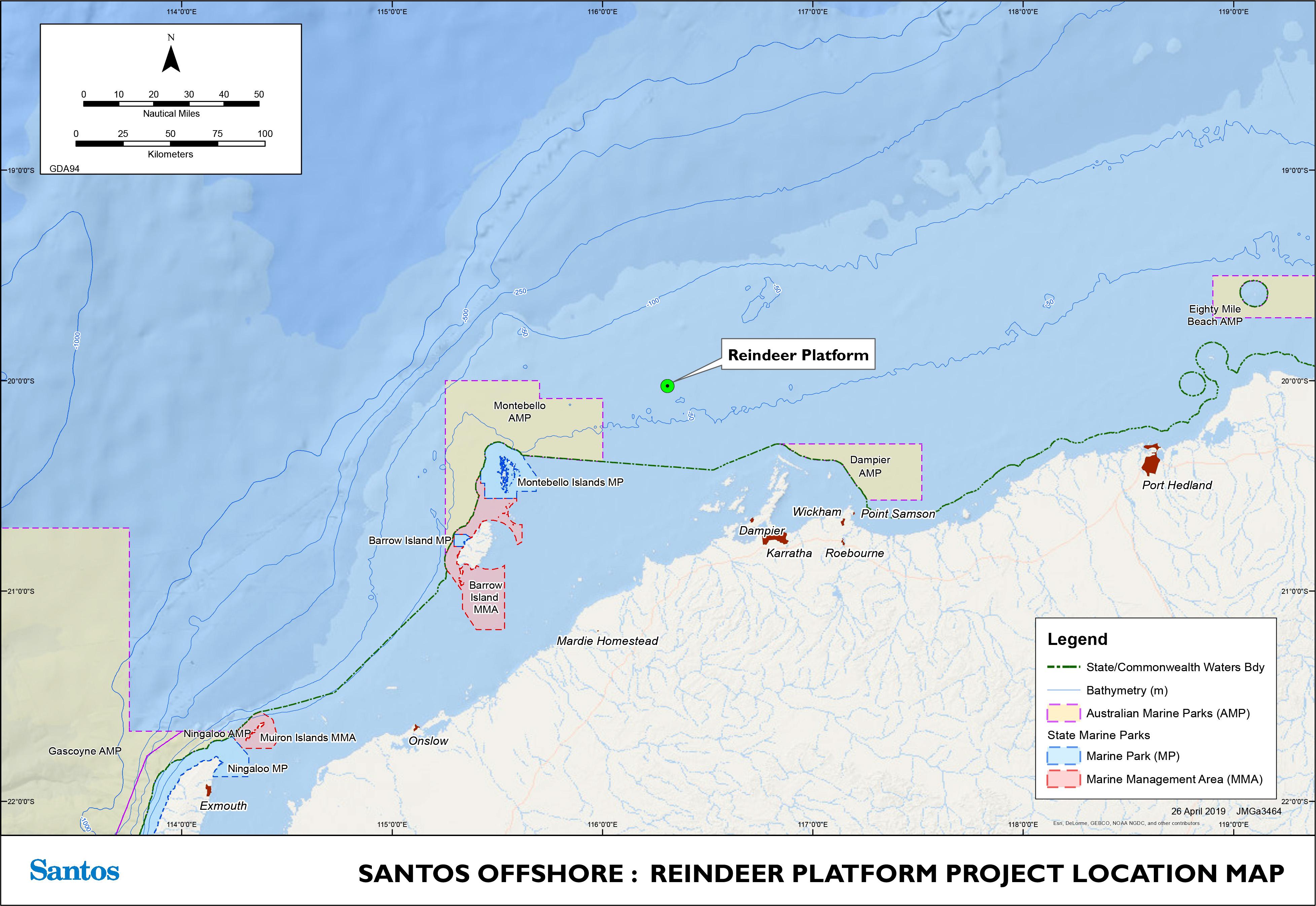 Project map - Reindeer Field Development (refer to Description)