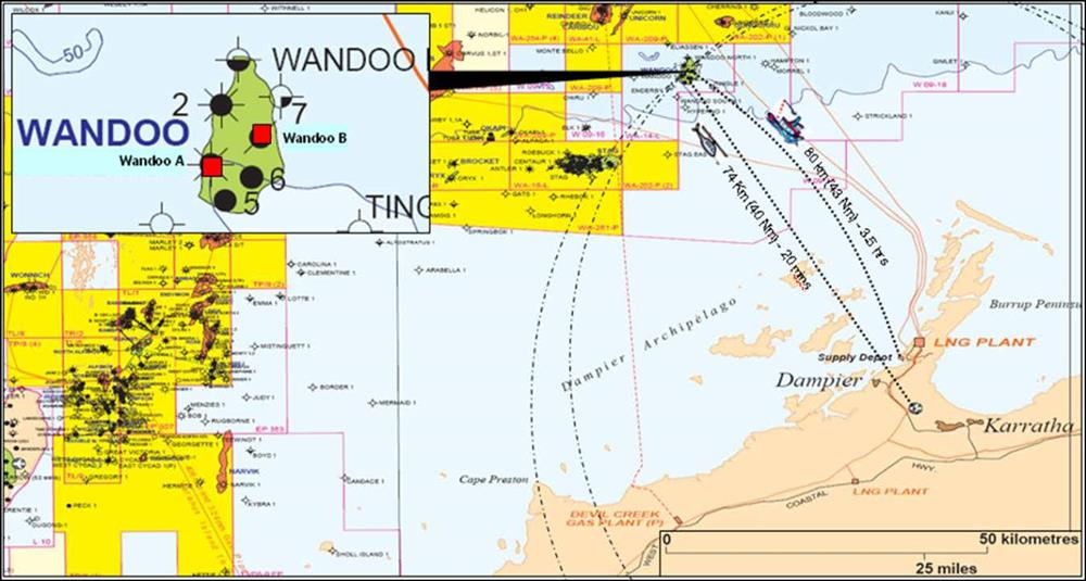 Location map - Activity: Wandoo Well Construction (refer to description)