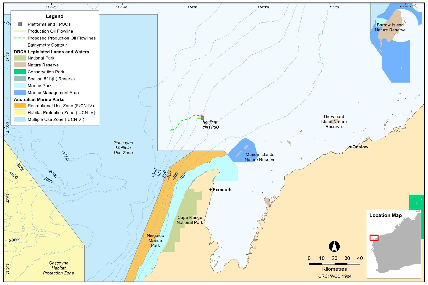 Project map - Greater Enfield Project (Australia Oil) (refer to Description)