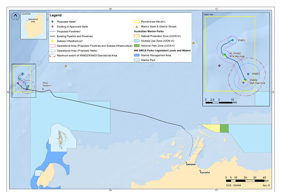 Location map - Activity: WA-34-L Pyxis Drilling and Subsea Installation (refer to description)