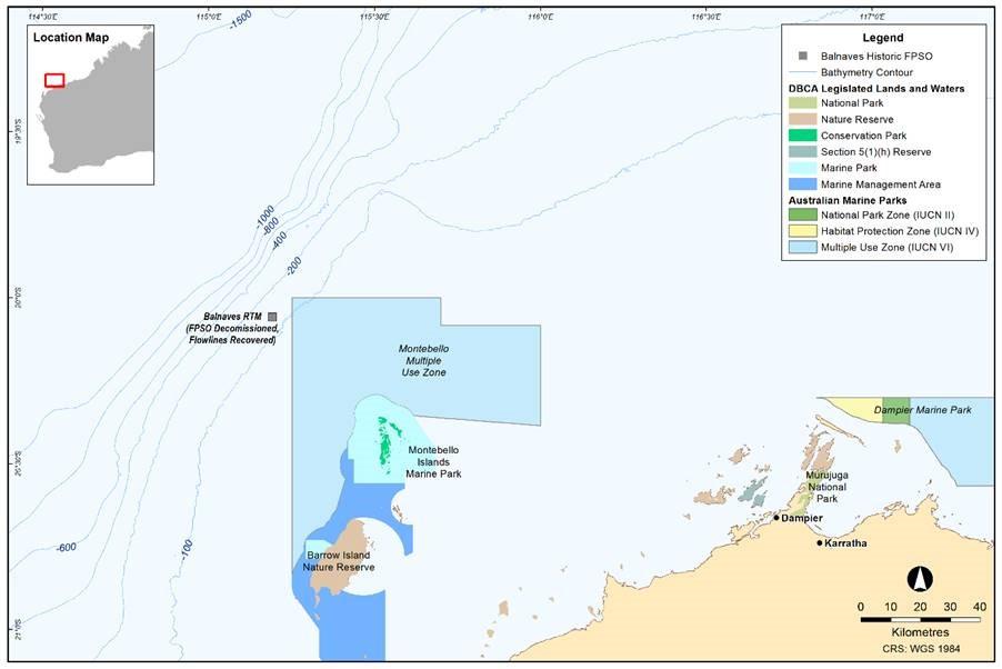 Project map - Julimar Development (refer to Description)