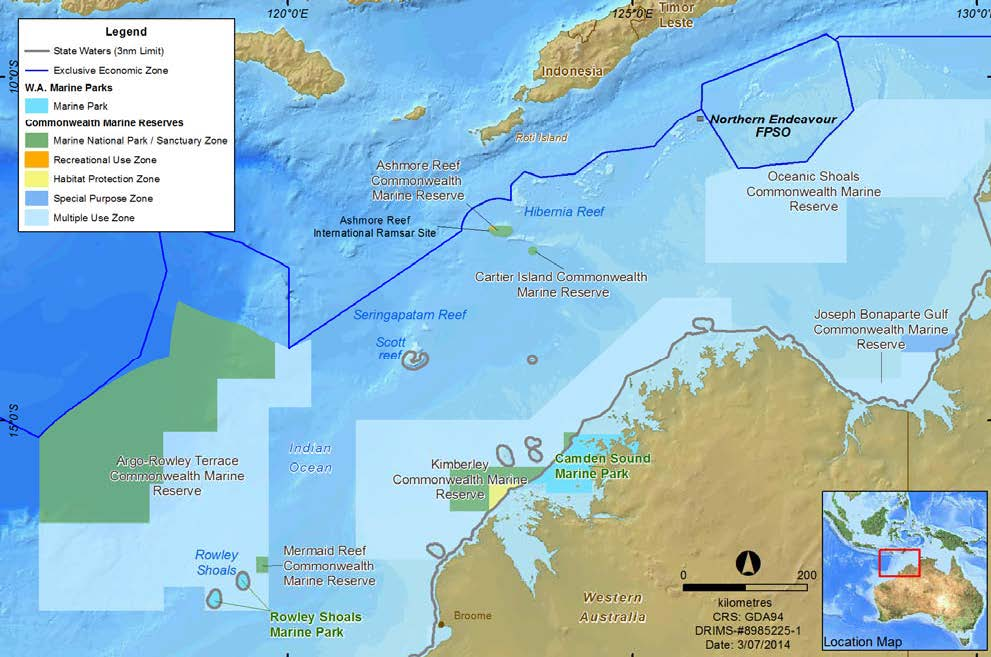 Location map - Activity: Northern Endeavour FPSO (refer to description)