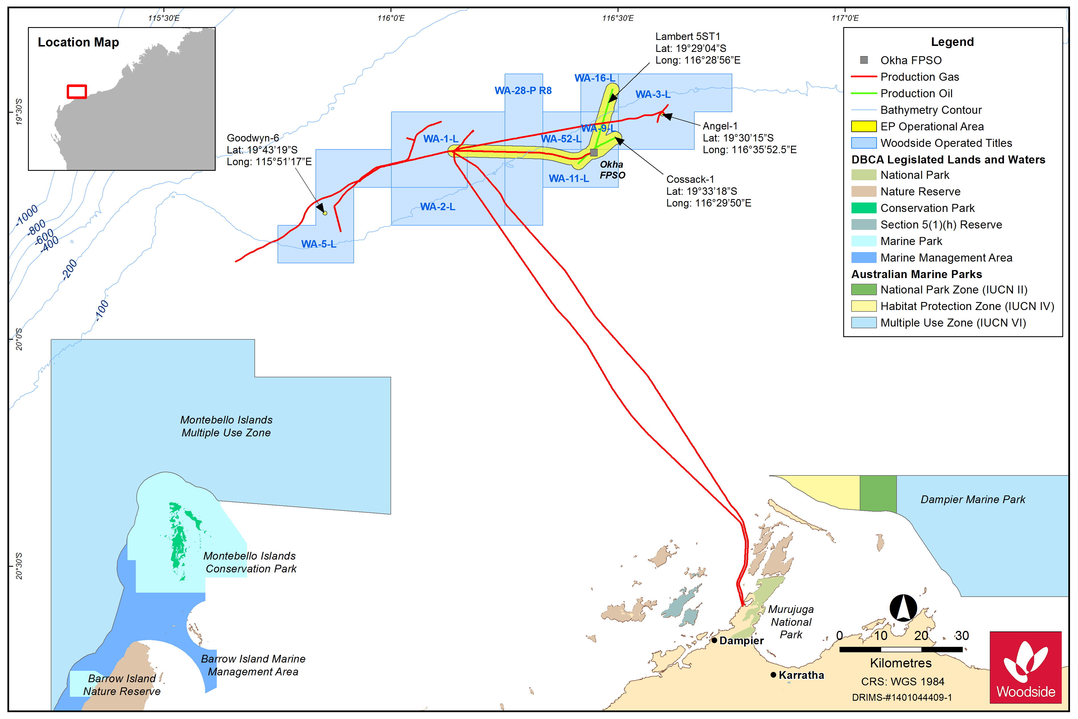 Location map - Activity: OKHA Floating Production Storage and Offloading Facility Operations (refer to description)