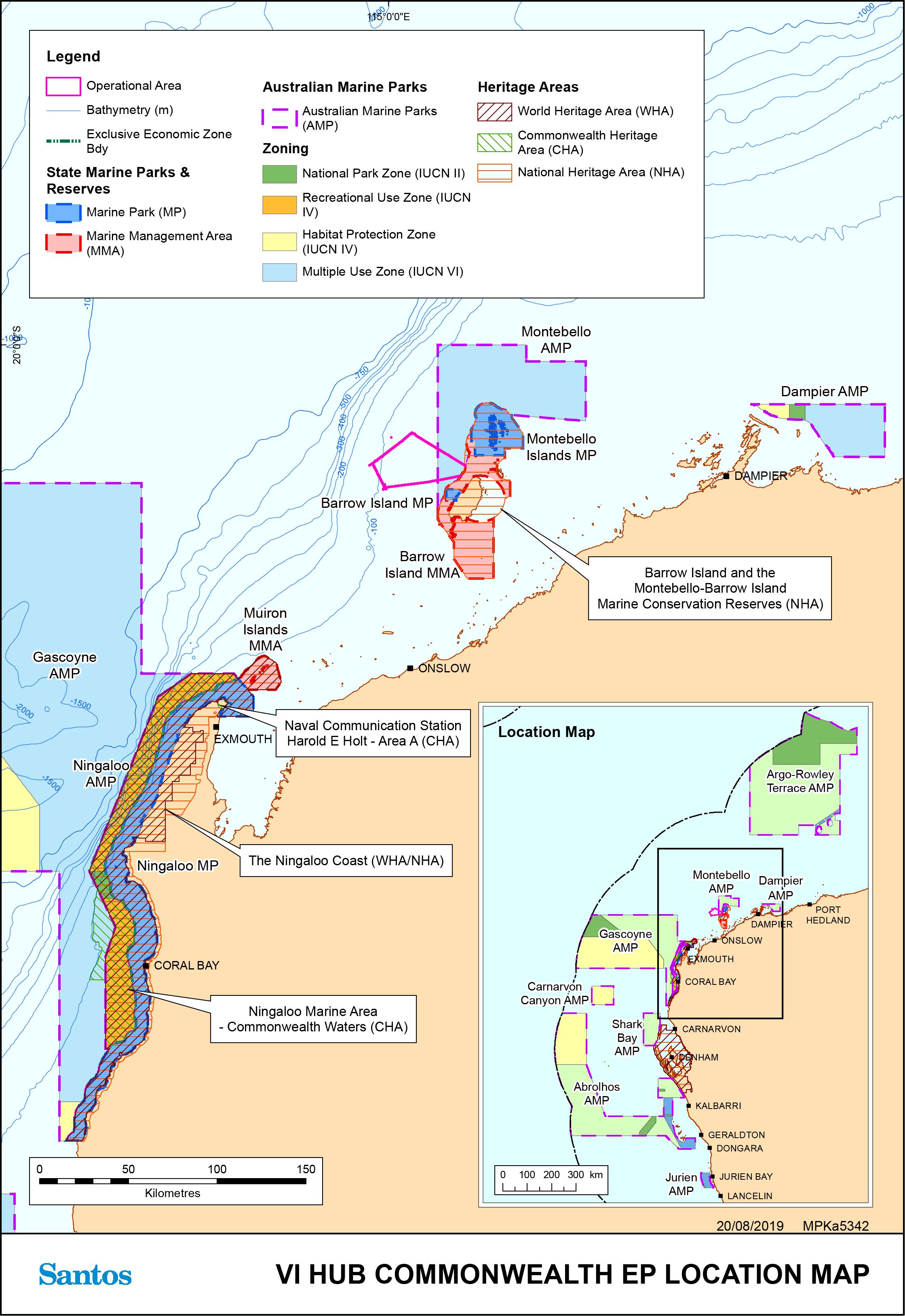 Location map - Activity: Varanus Island Hub Operations  (refer to description)