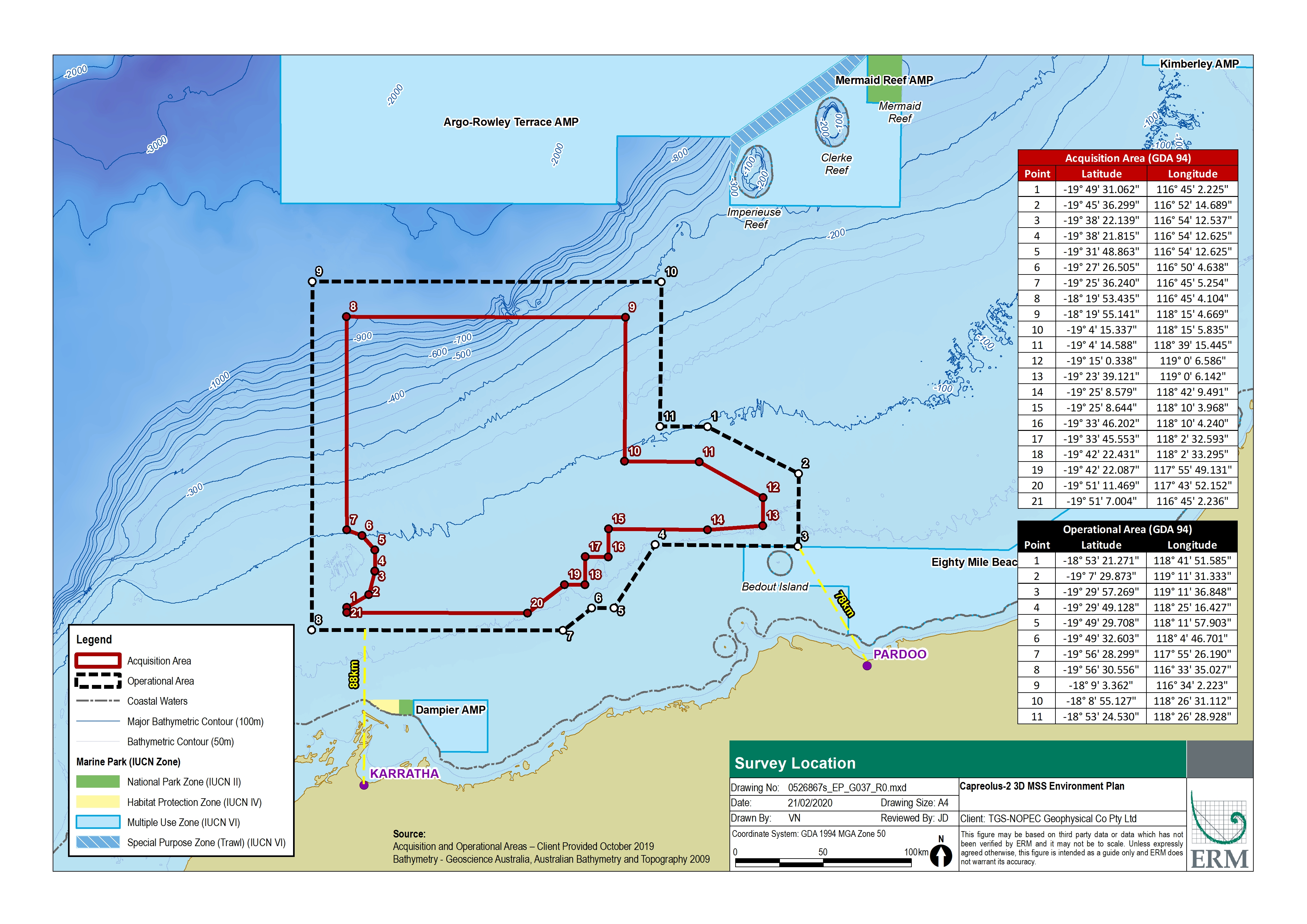 Location map - Activity: Capreolus-2 3D Marine Seismic Survey 2020 - 2023 (refer to description)