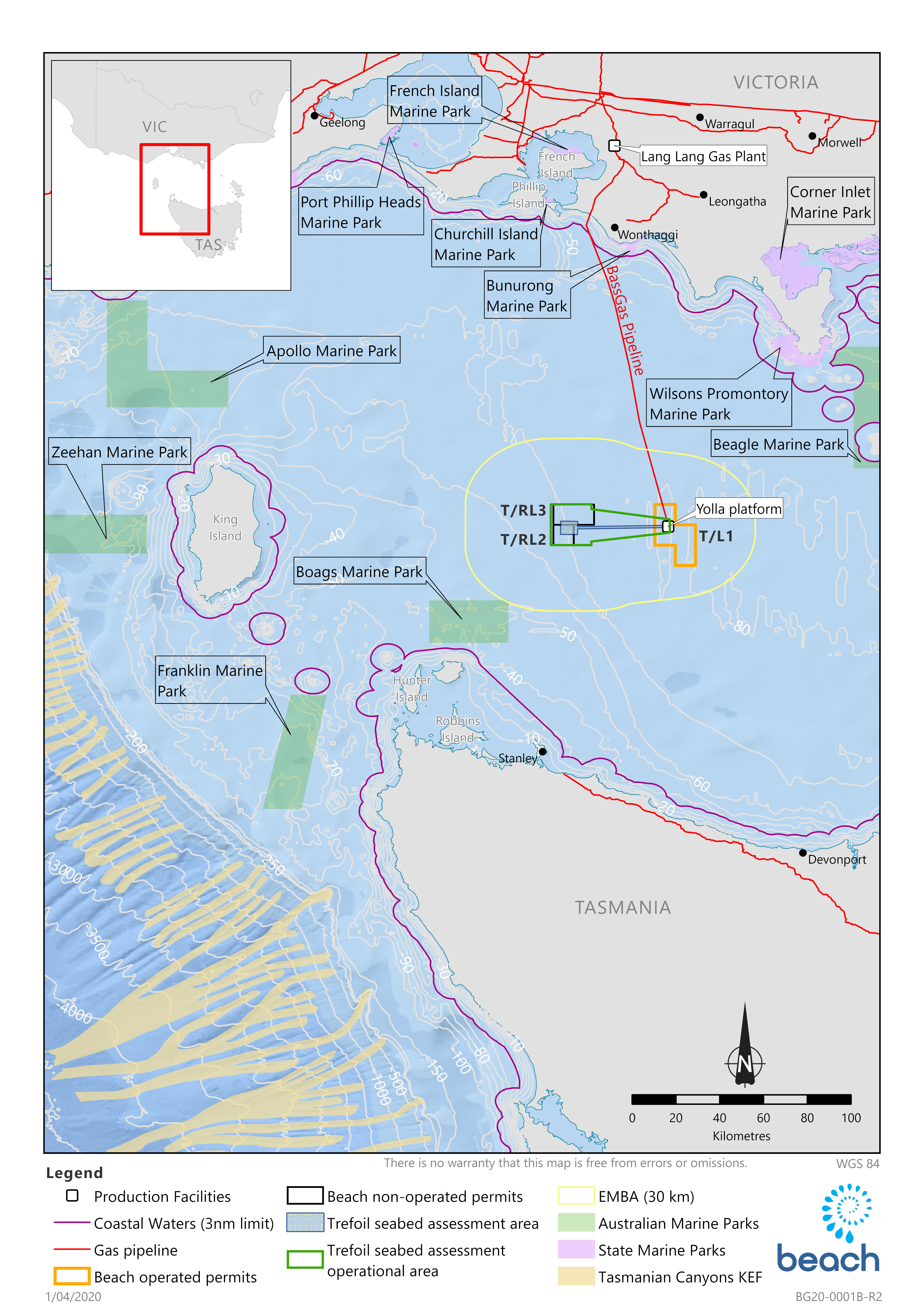 Location map - Activity: Trefoil Geophysical and Geotechnical Seabed Assessment (refer to description)