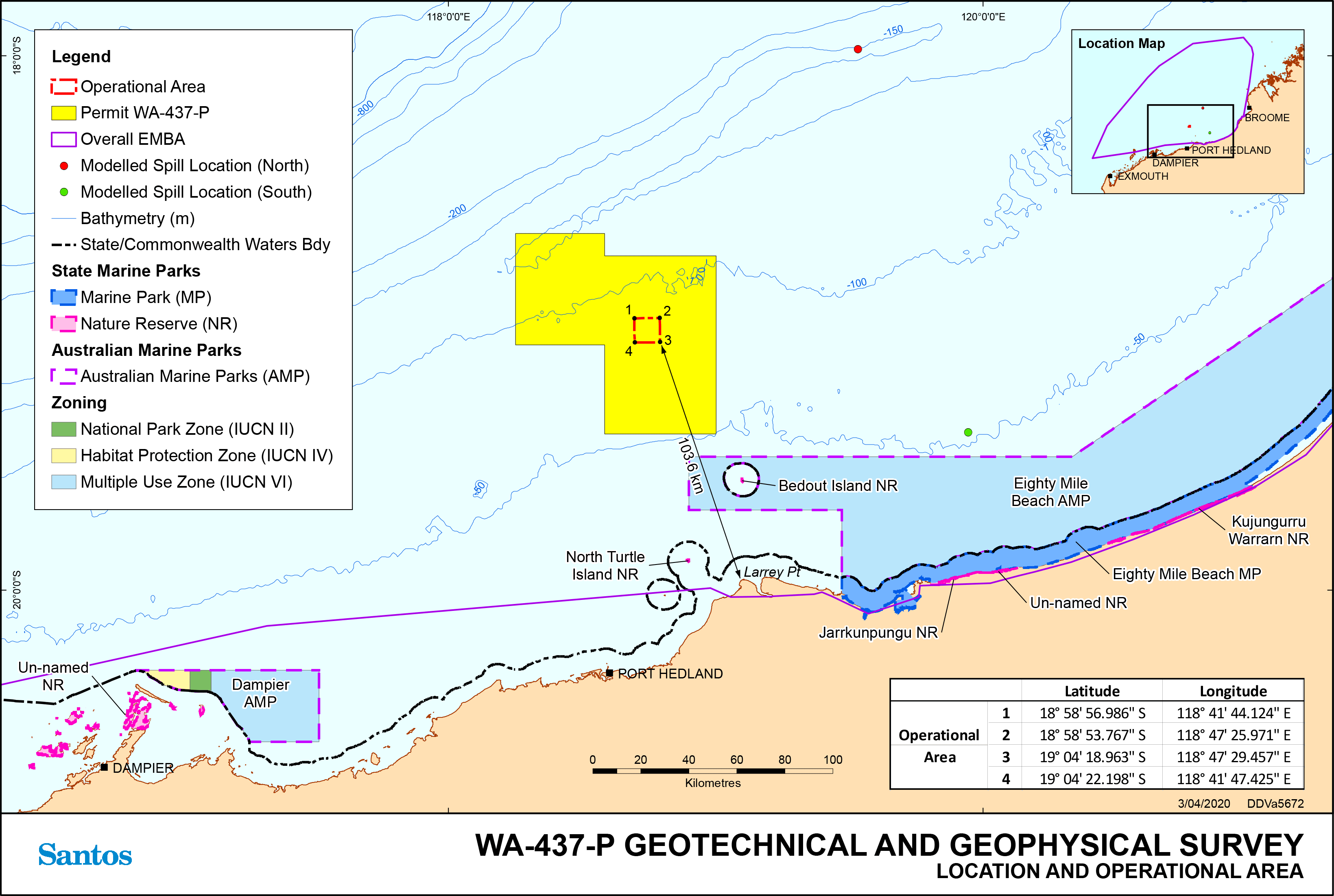 Location map - Activity: WA-437-P Geotechnical and Geophysical Survey Environment Plan (refer to description)