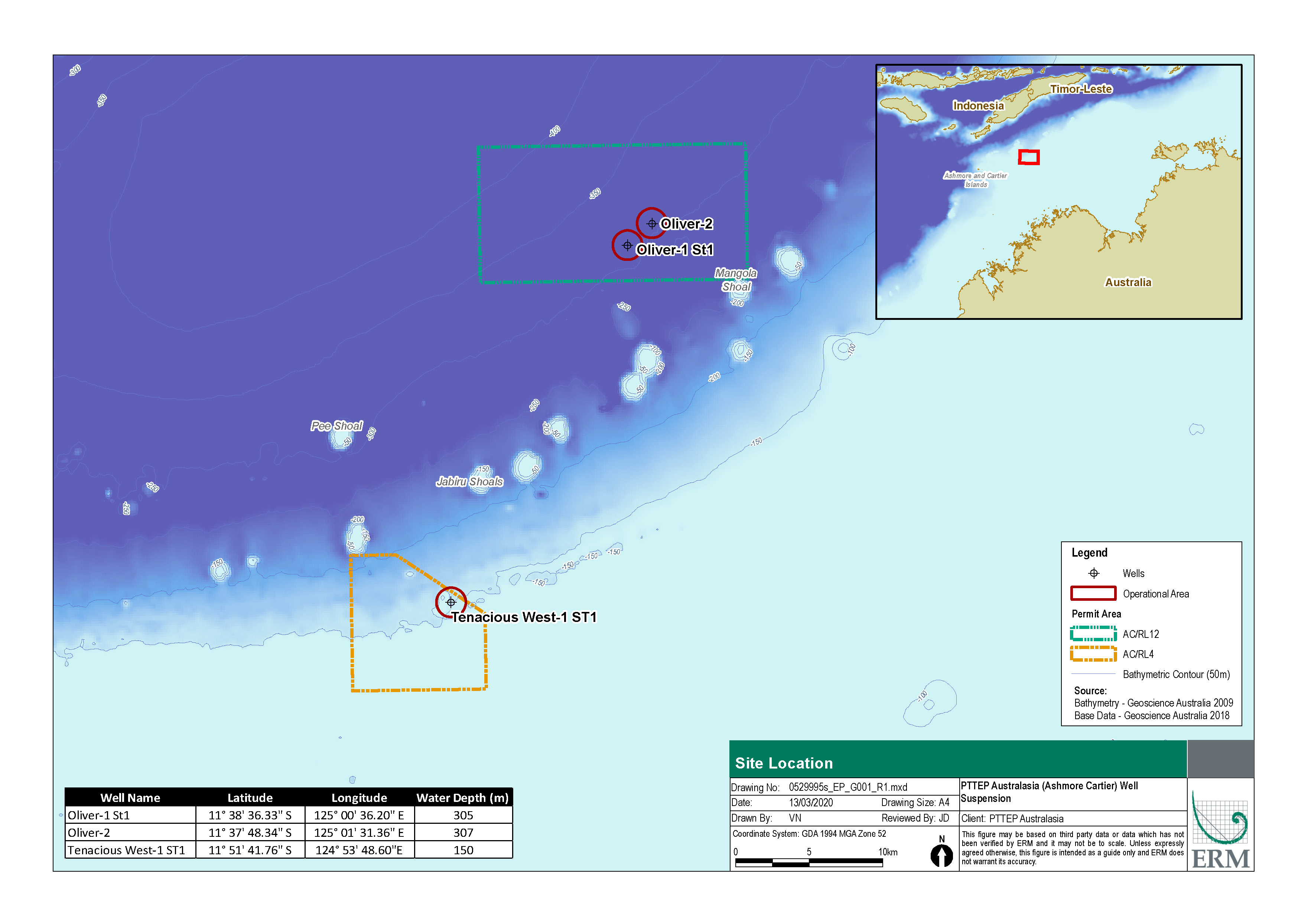 Location map - Activity: Timor Sea Well Suspension (refer to description)