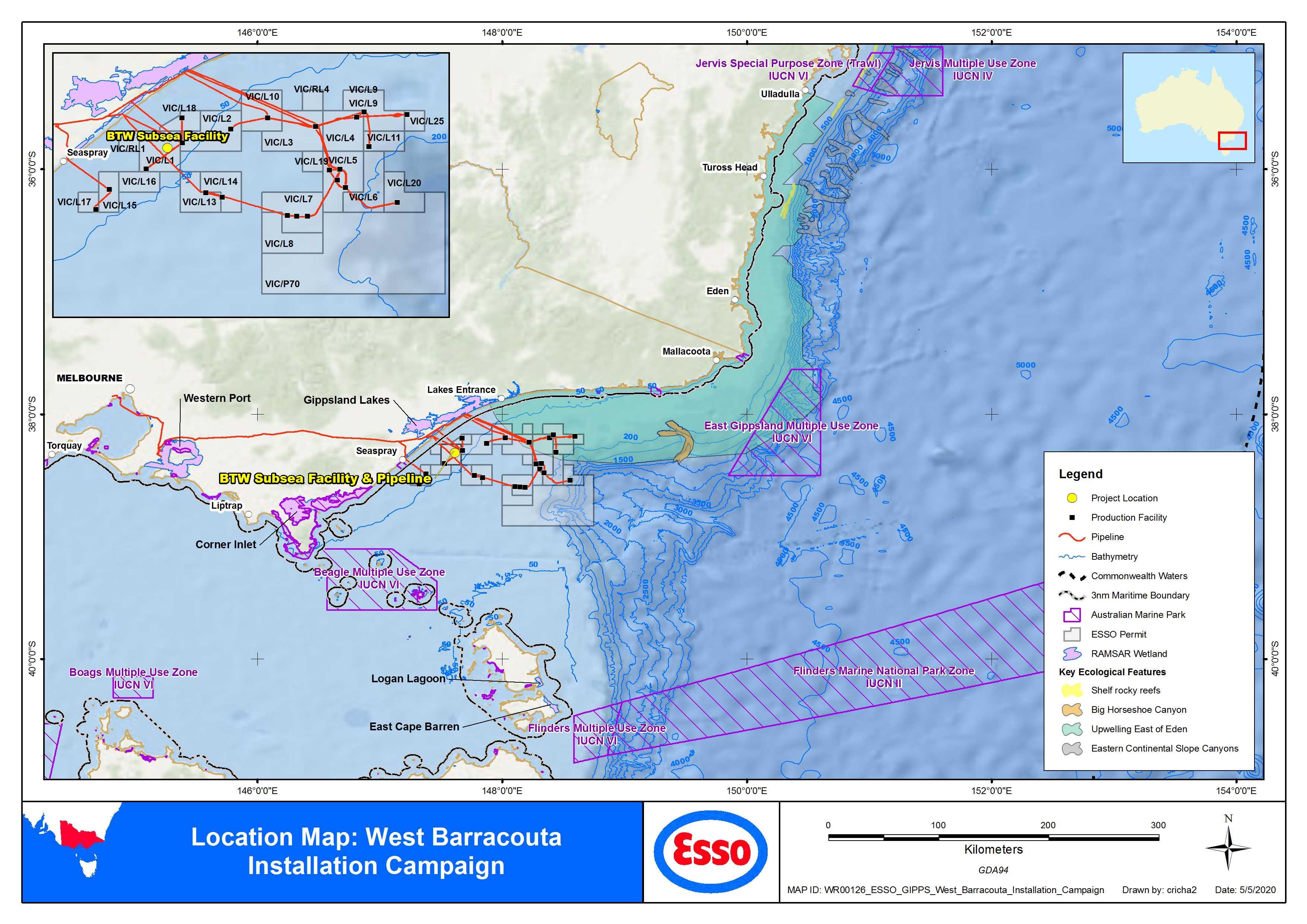 Location map - Activity: BTW Installation  (refer to description)