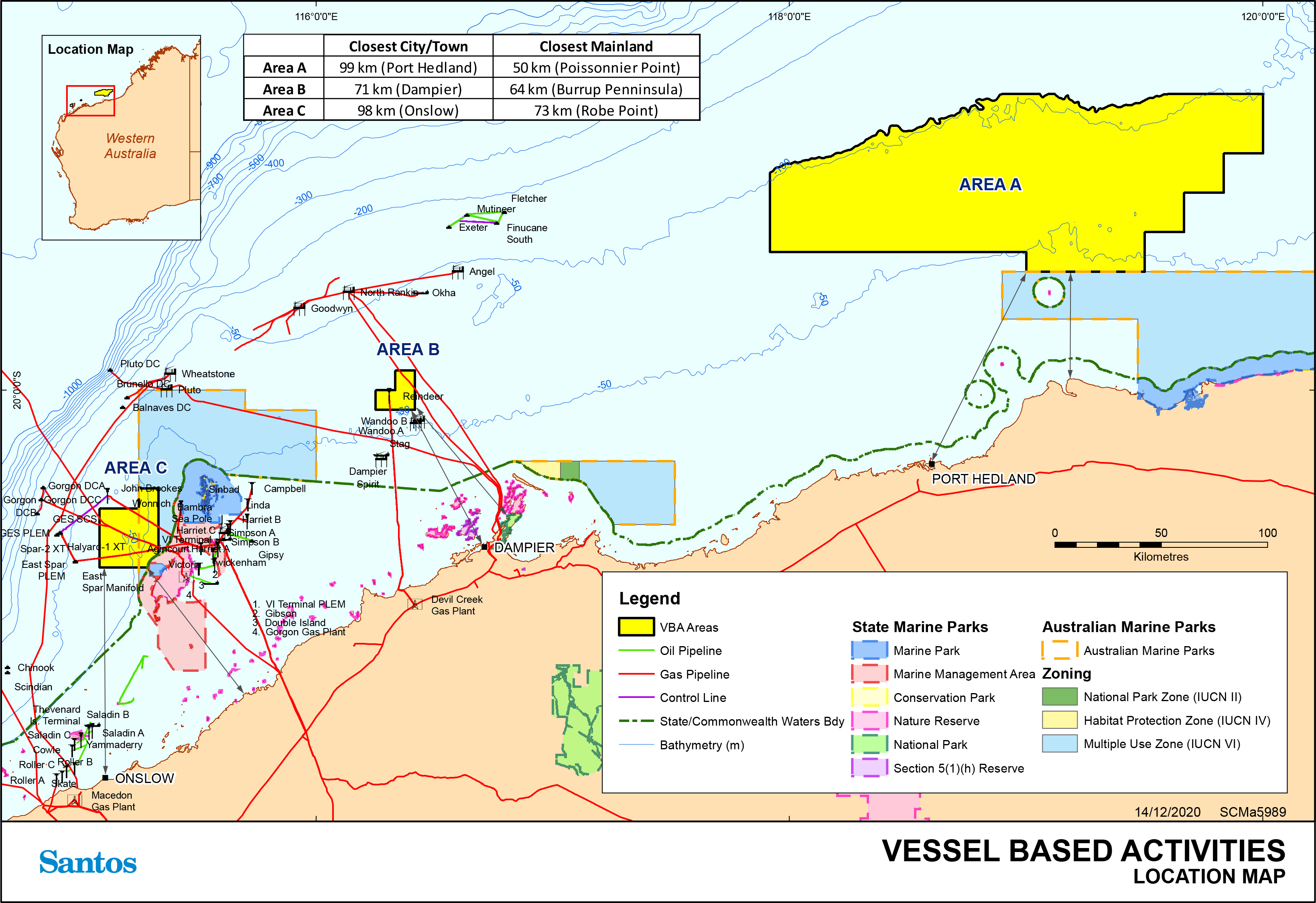 Location map - Activity: Commonwealth Exploration Vessel Based Activity (refer to description)