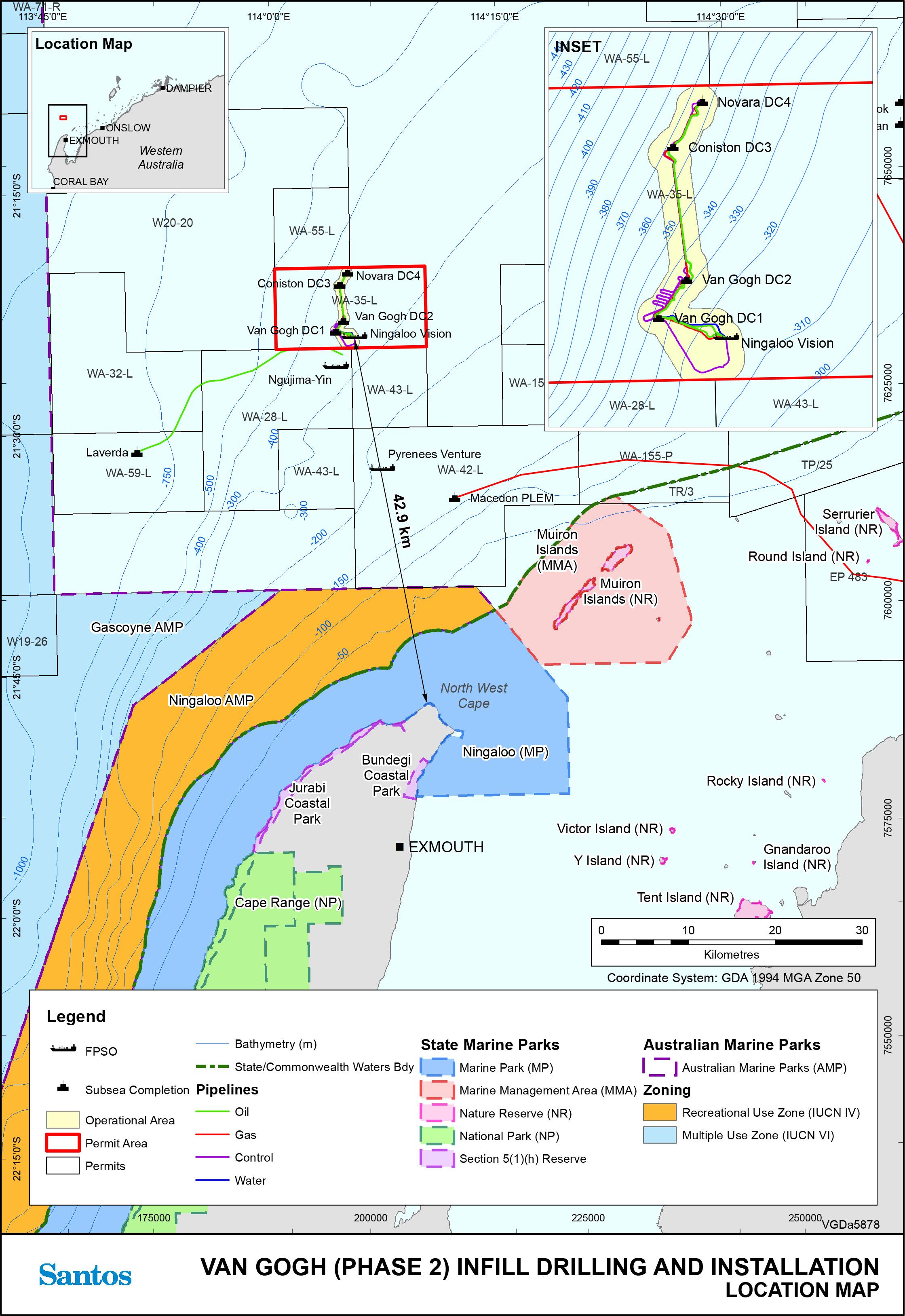 Location map - Activity: Van Gogh Infill Development Phase II (VGID2) Installation (refer to description)