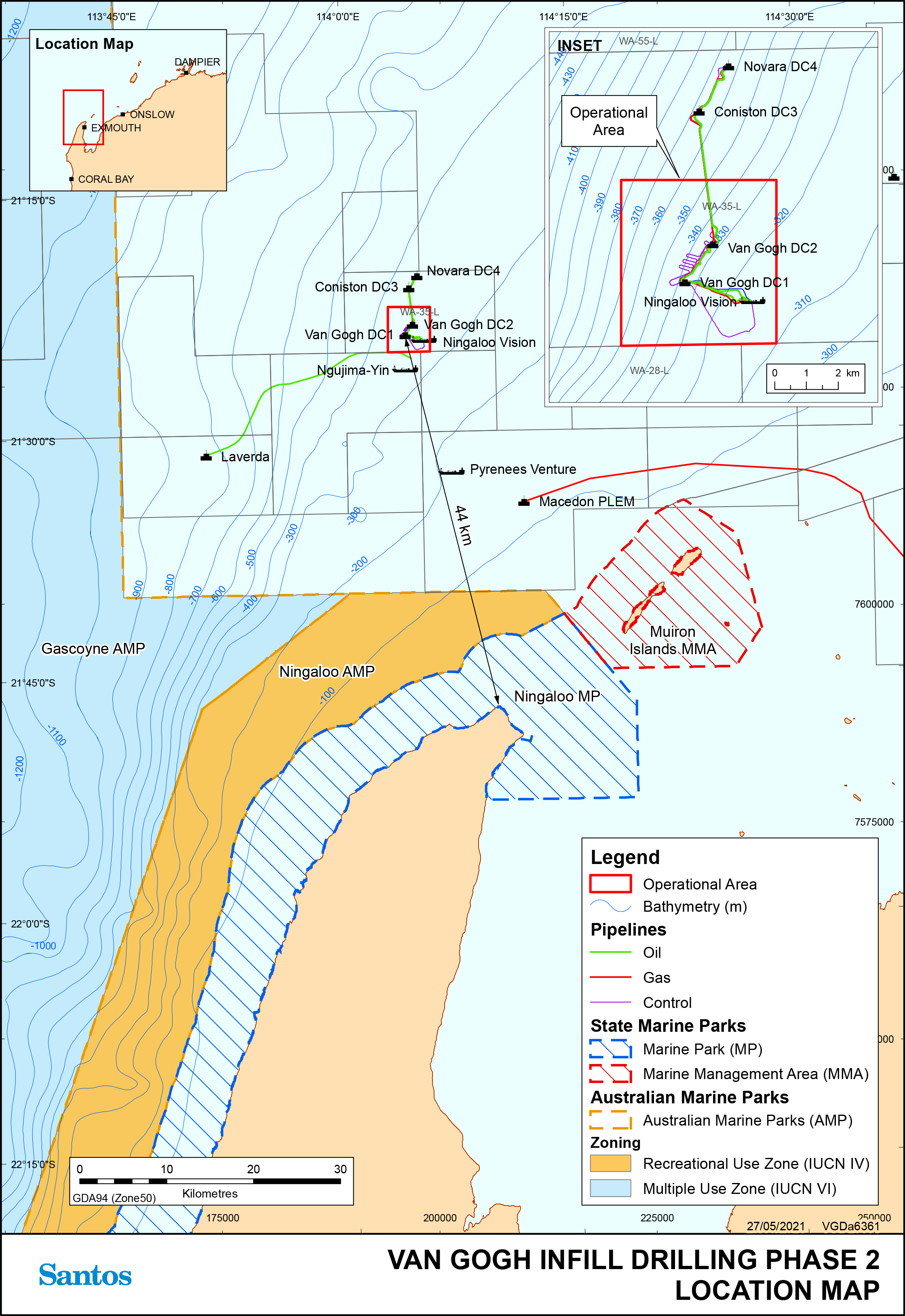 Location map - Activity: Van Gogh Phase 2 Drilling and Completions Extension  (refer to description)