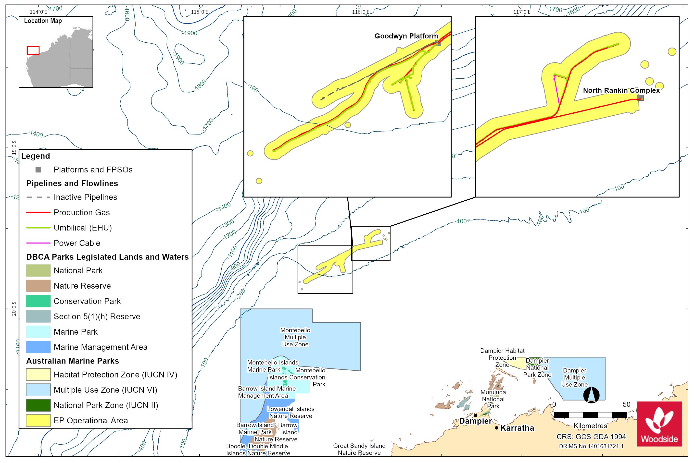 Location map - Activity: Goodwyn Alpha (GWA) Facility Operations (refer to description)